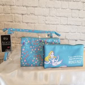 Loungefly Alice in Wonderland 3 Pc Tote Travel Bag